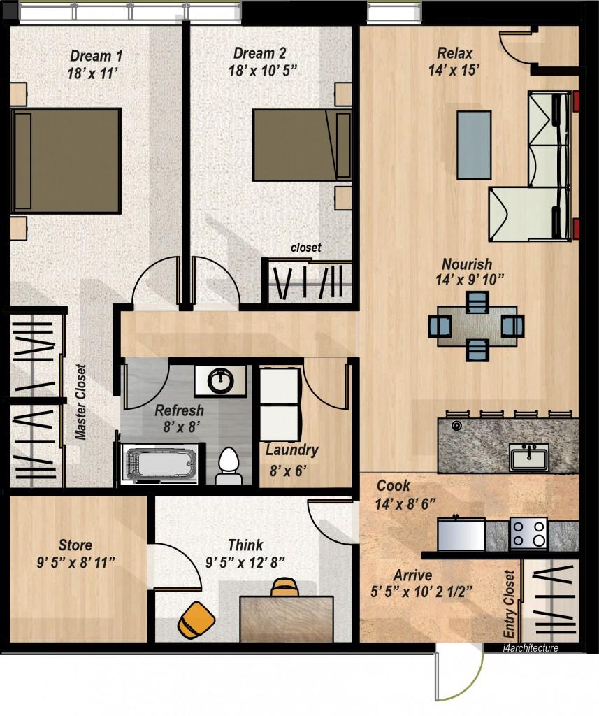 Two Bedroom Plans Layouts Digitalstudiosweb Com
